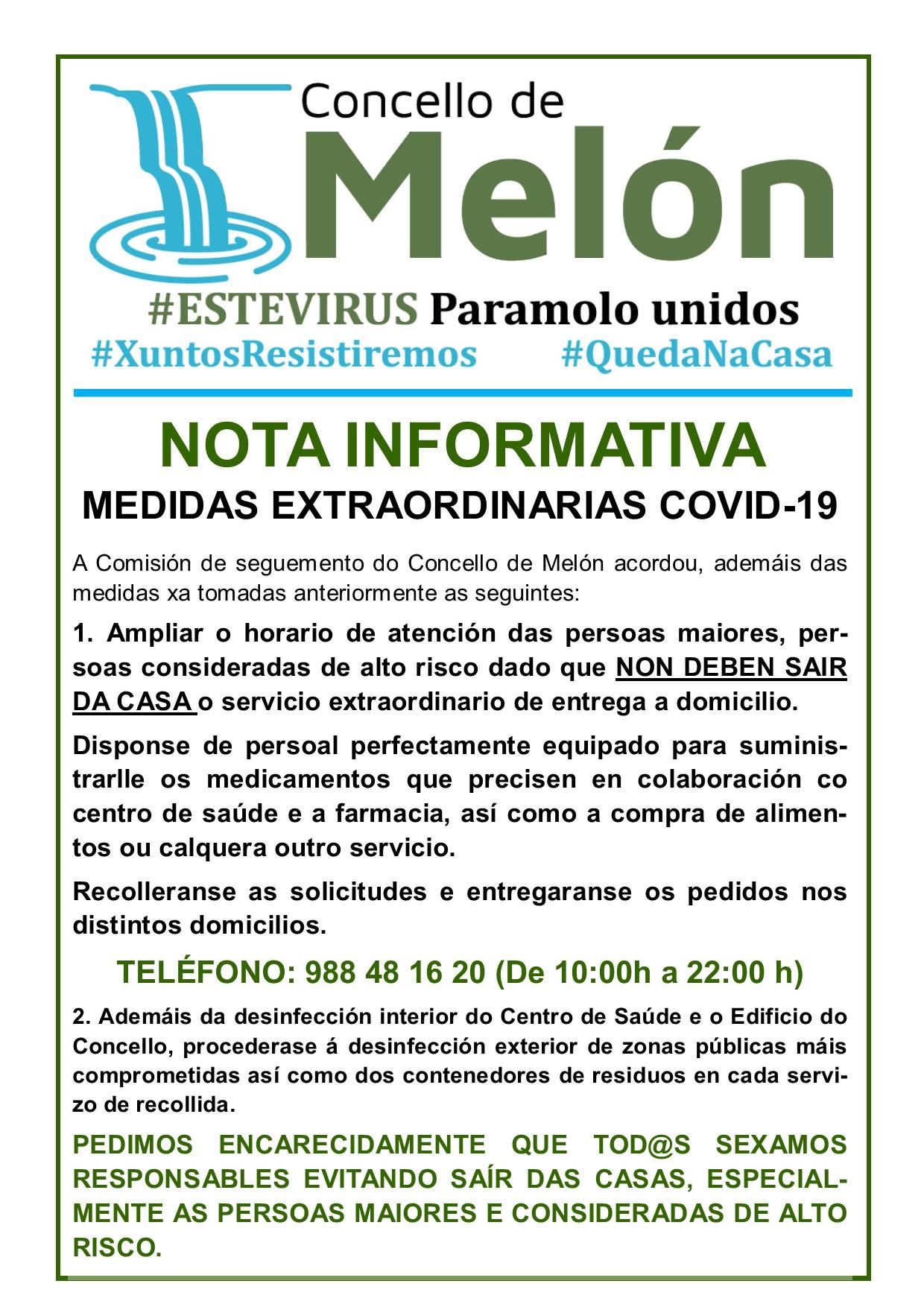 NOTA INFORMATIVA COVID-19